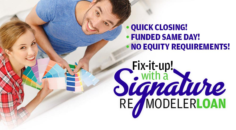 Signature Remodeler Loan at CPCU