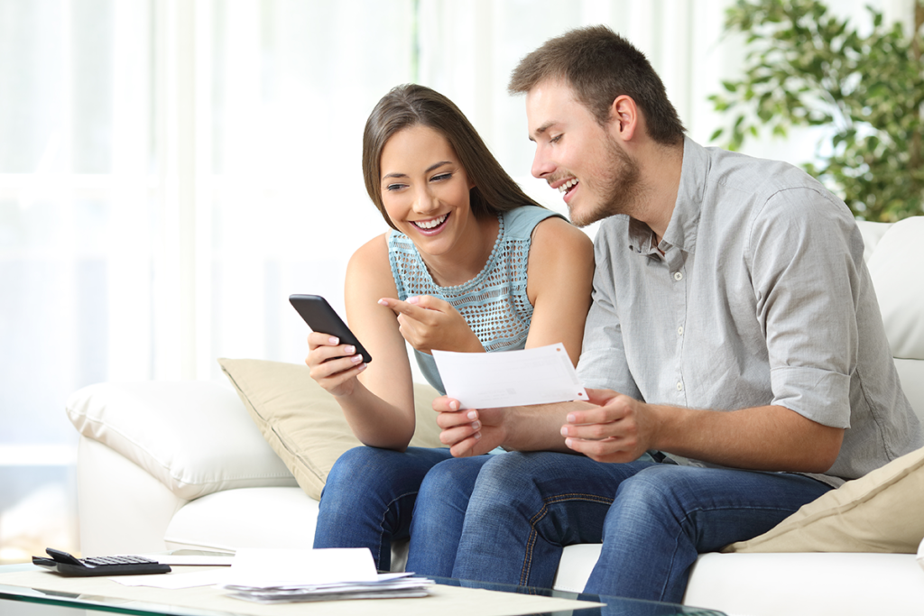 Family looking at Loan information Core Plus Credit Union